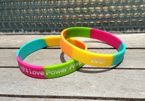 Robin Roberts Wristbands with Light Love Power Presence Message ...
