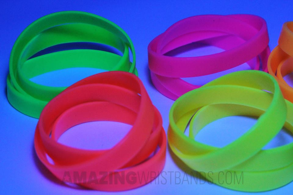 Neon Wristbands For Parties Awareness Special Events More