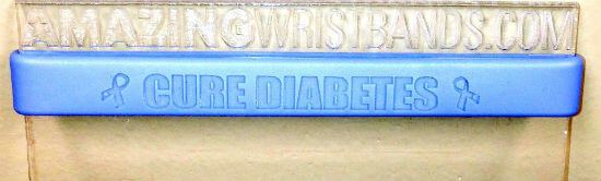 Half-Inch Blue Diabetes Awareness Wristband
