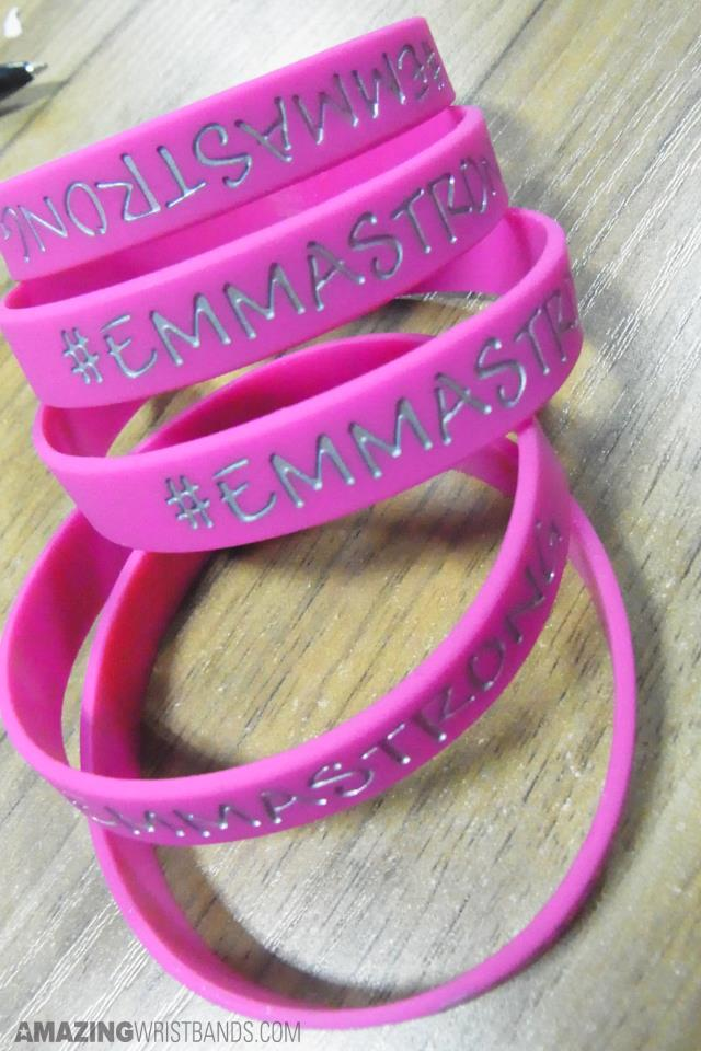 Wristbands With Silver Pink