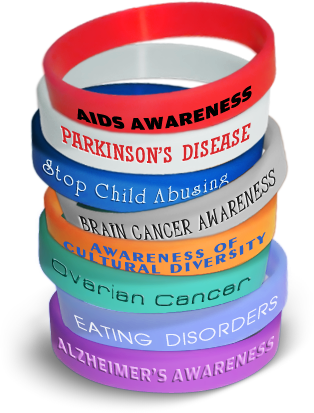 Colors of Awareness Bracelets