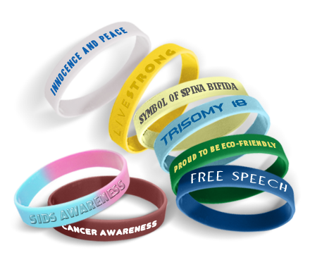 Awareness Wristbandss With Message
