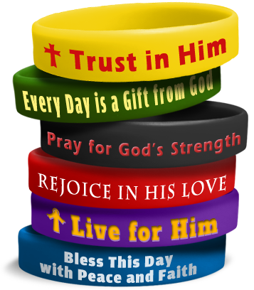 custom designed bracelets to show your faith
