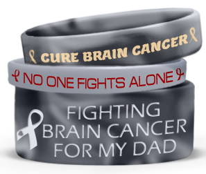 Wristbands With Glioblastoma Awareness Message