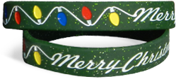 1/2 Inch Silicone Christmas Wristbands