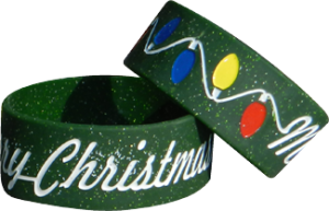 1 Inch Wide Christmas Wristbands
