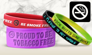 Custom Anti-Smoking Wristbands
