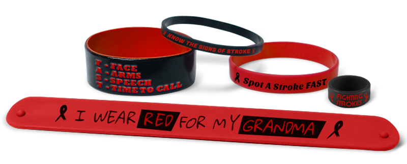 Red Stroke Awareness Bracelets