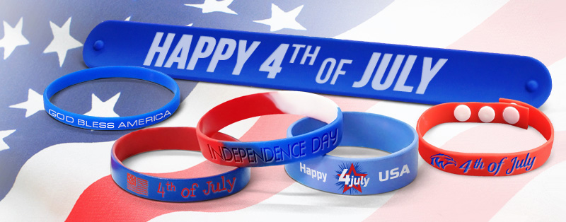 Custom 4th Of July Wristbands