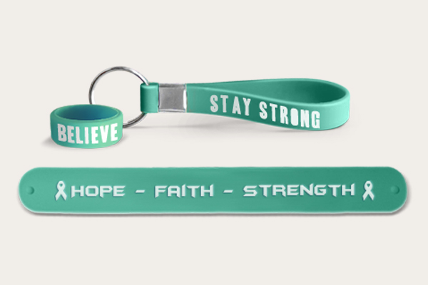 Custom Teal Wristbands
