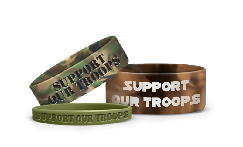 Wristbands with Camouflage