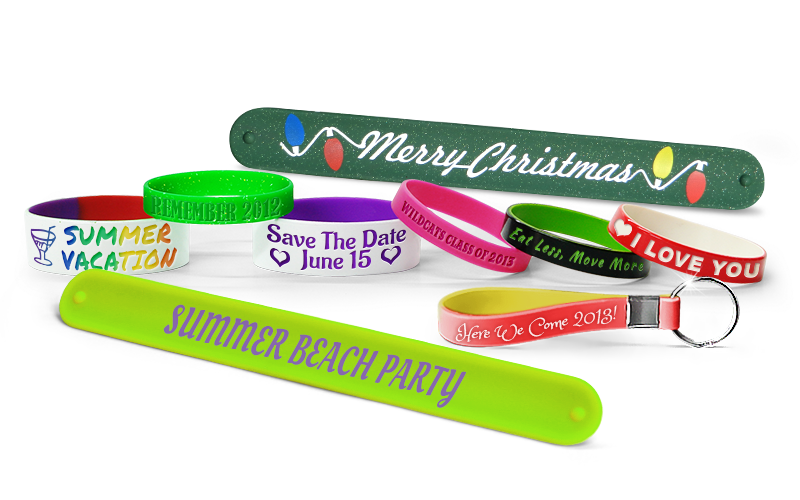 Wristbands With Party Message