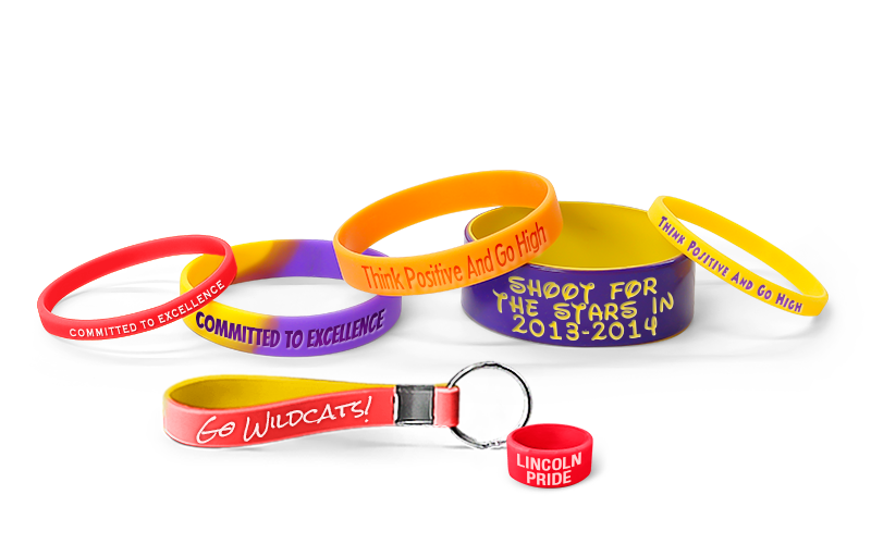 School Spirit Wristbands