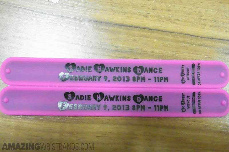Custom Entry Slap Bracelets