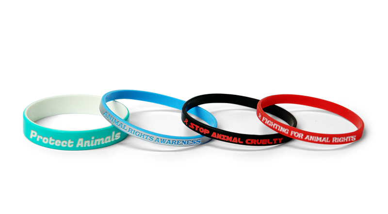 Custom Animal Rights Wristbands