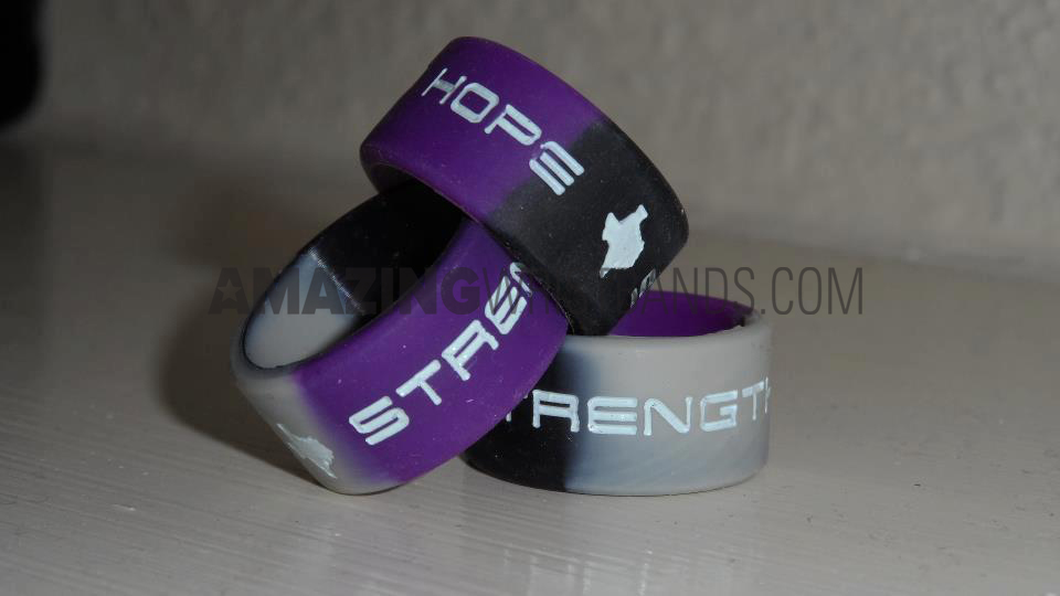 Purple Silicone Rings