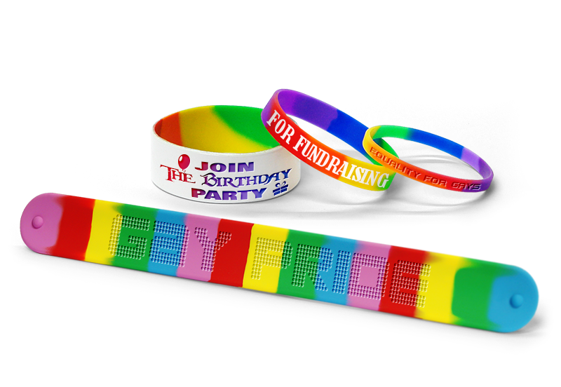 Uses Rainbow Bracelets For Fundraising Custom
