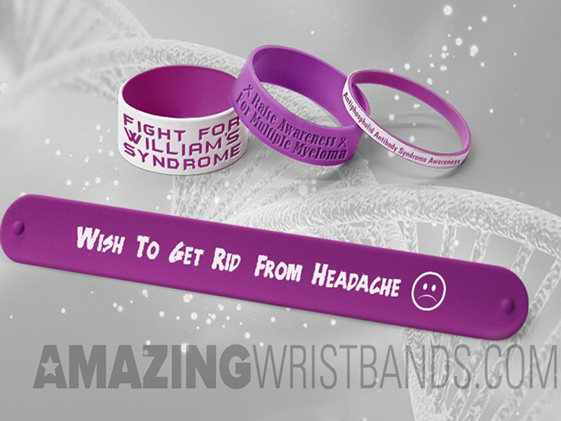 Burgundy Wristbands