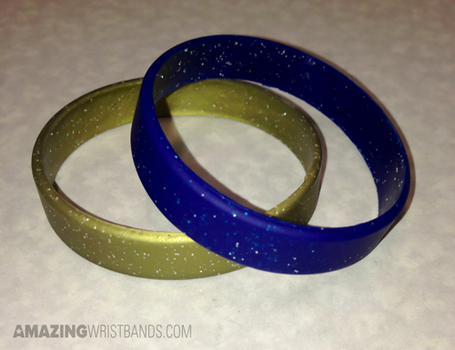 Custom Sparkly wristbands