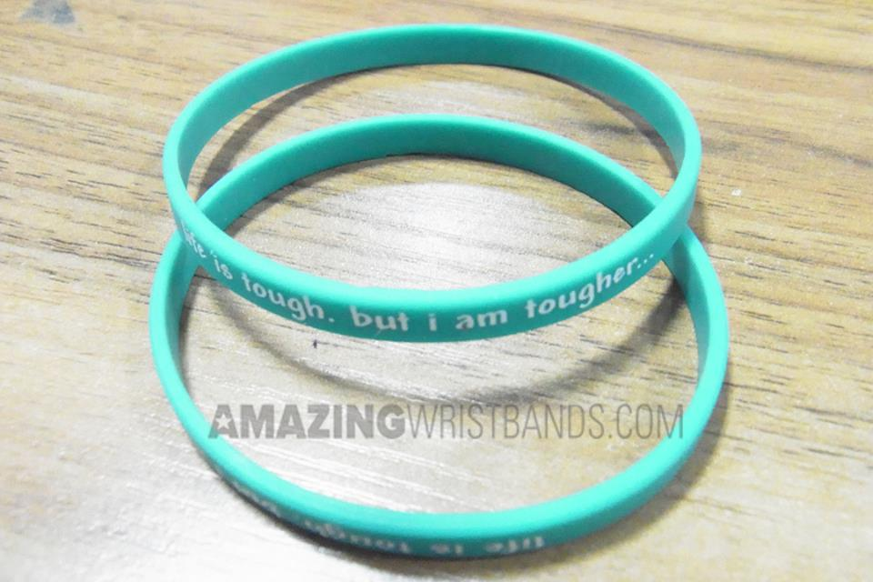 Teal Motivational Bracelets
