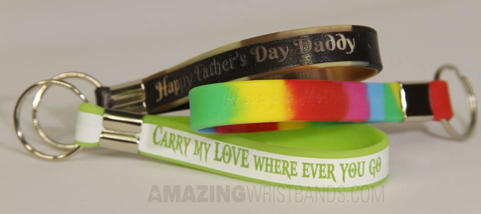 Custom Color Awareness Keychain Wristbands