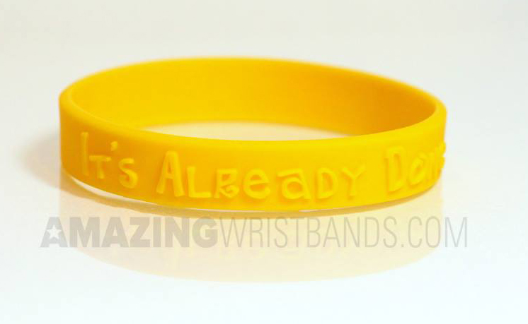 Yellow Ewing Sarcoma Awareness Wristbands