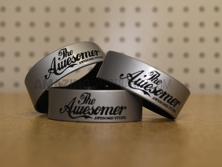 Wristbands With Metallic Silver