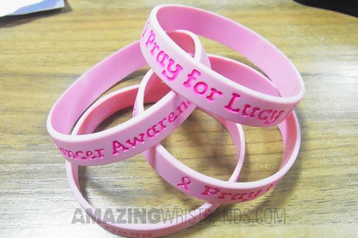 Custom Pink Ribbon Bracelets