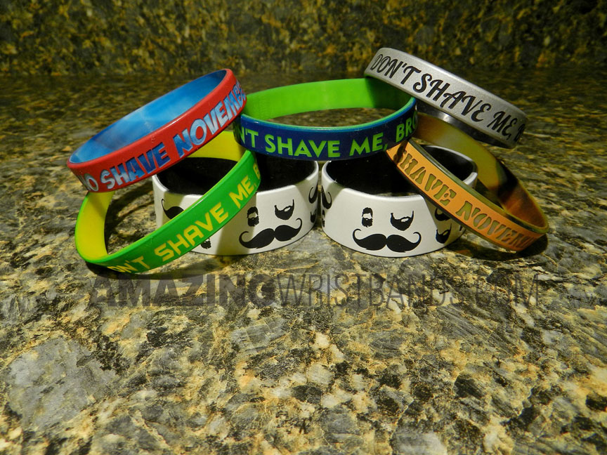 Custom Wristbands For No Shave November
