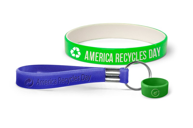 Green America Recycles Day Wristbands