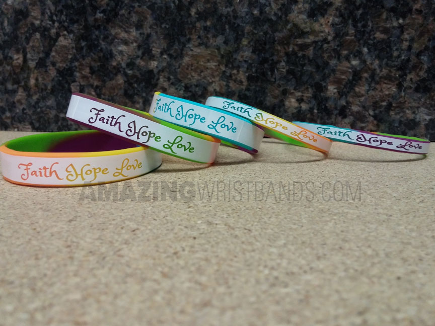 Faith Hope Love Wristbands