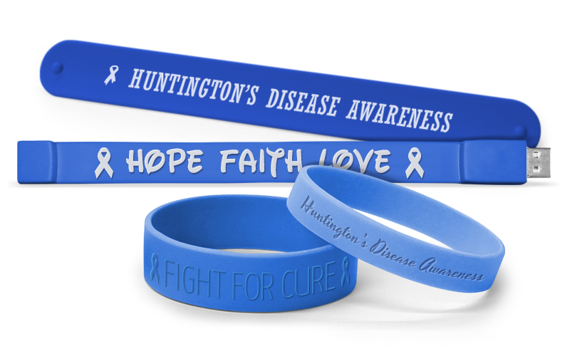 Huntington's Disease Awareness Wristbands