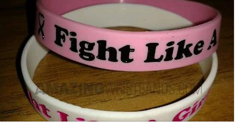 Fight Like a Girl Wristbands