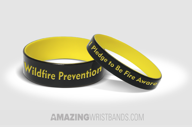 Custom Forest Fire Prevention Wristbands